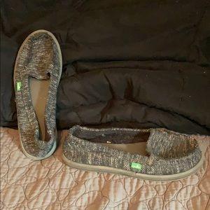 Sanuk Grey Woven Shoes